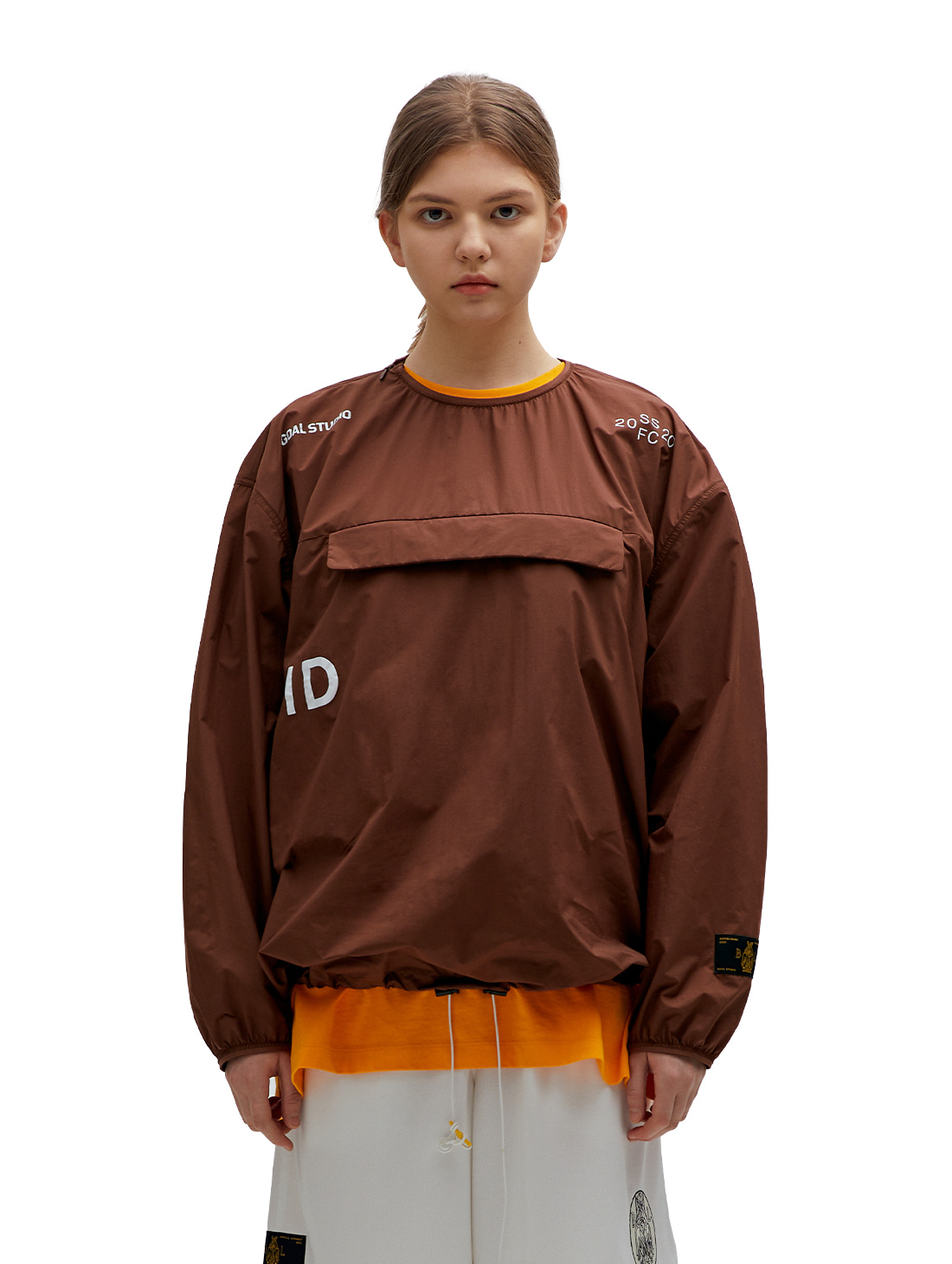SSFC PULLOVER WINDSHIRT - BROWN