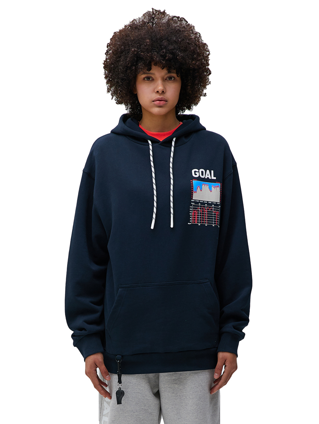 PULSE GRAPHIC HOODIE - NAVY