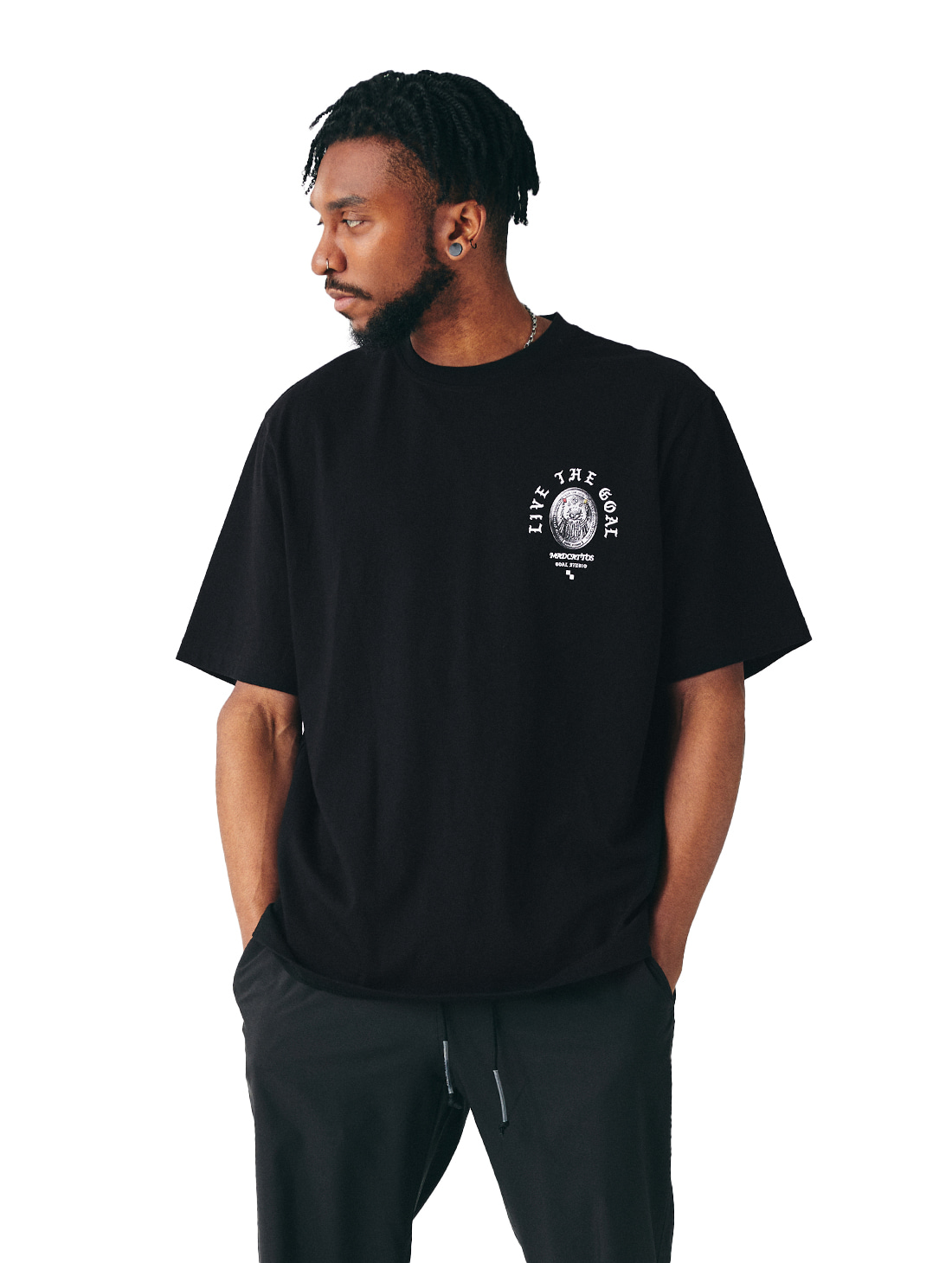 MC COIN GRAPHIC TEE - BLACK