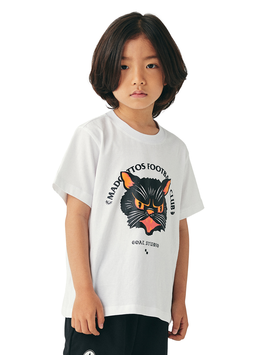 (KIDS) MC FACE GRAPHIC TEE - WHITE