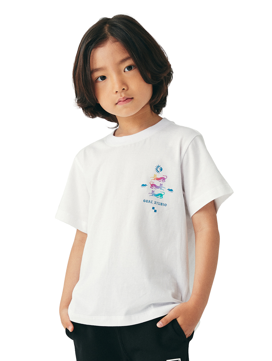 (KIDS) MC EMBLEM GRAPHIC TEE - WHITE