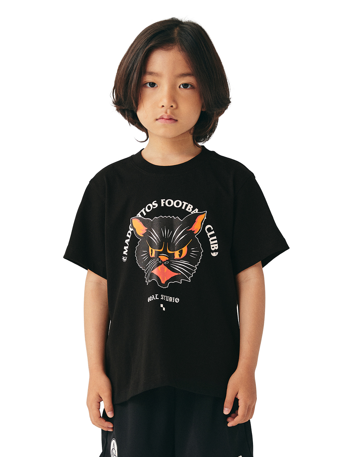 (KIDS) MC FACE GRAPHIC TEE - BLACK