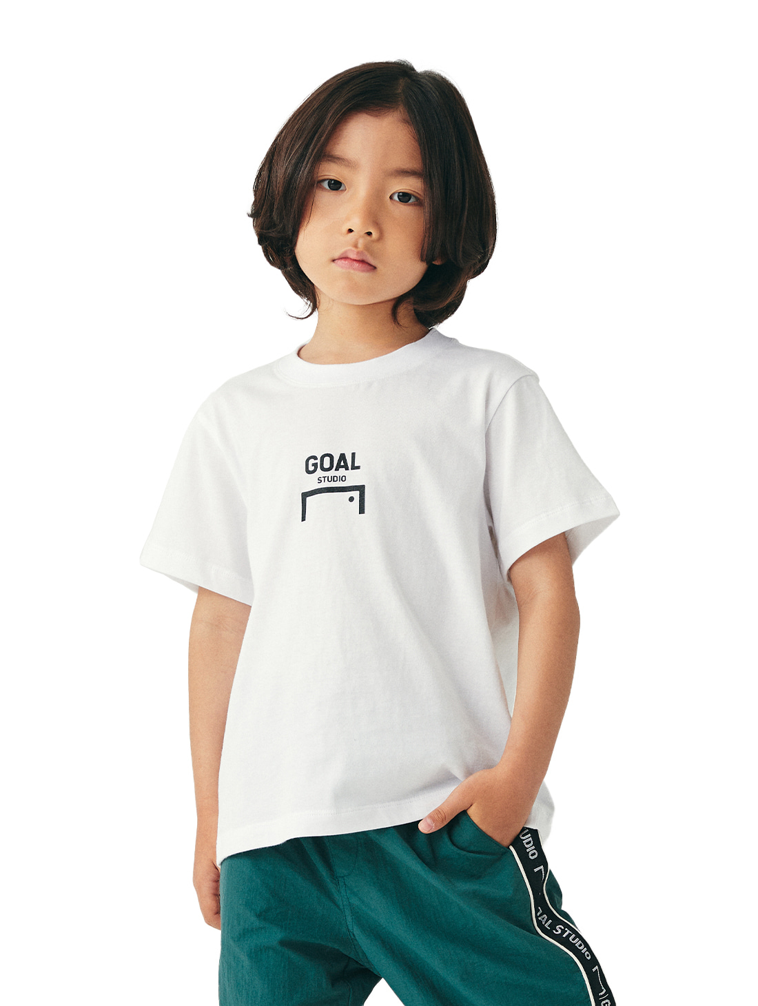 (KIDS) COMPOSITE LOGO TEE - WHITE