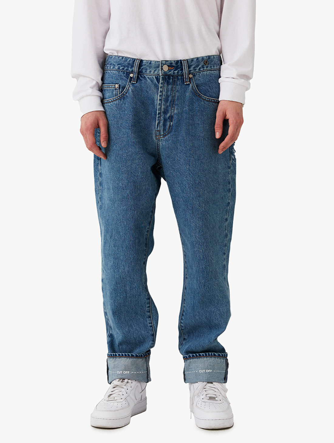 STRAIGHT DENIM PANTS (2 Colors)