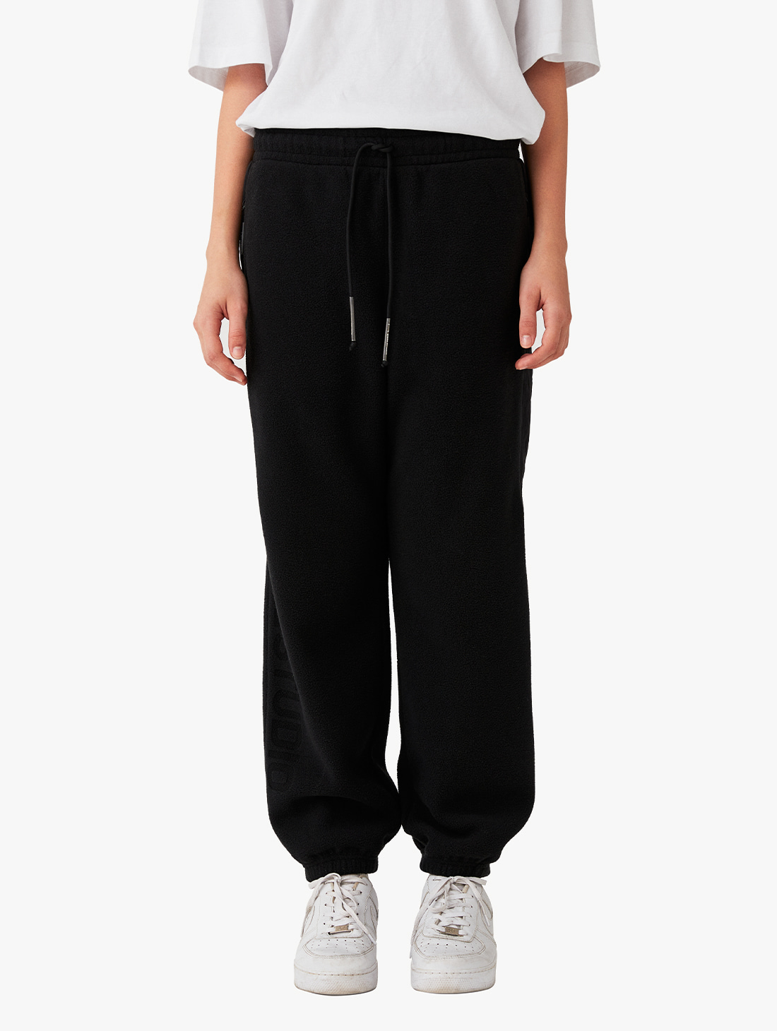NYLON METAL MIXED FLEECE LONG PANTS (2 Colors)