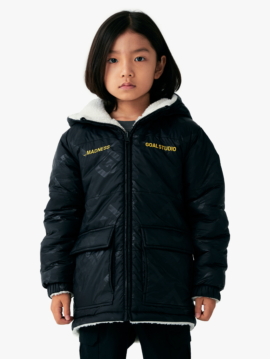 (KIDS) REVERSIBLE SHERPA PADDED JACKET (3 Colors)