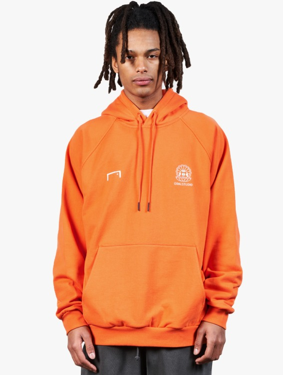 PEARL BALL PATCH HOODIE - ORANGE