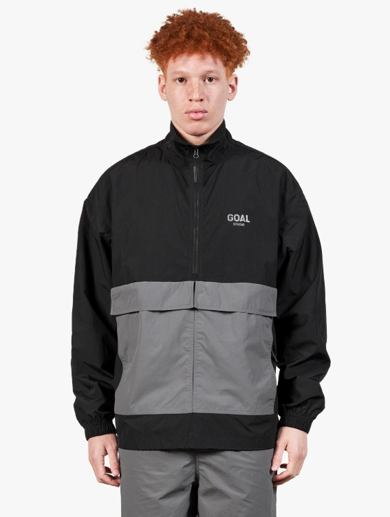 TWO POCKET ANORAK - BLACK