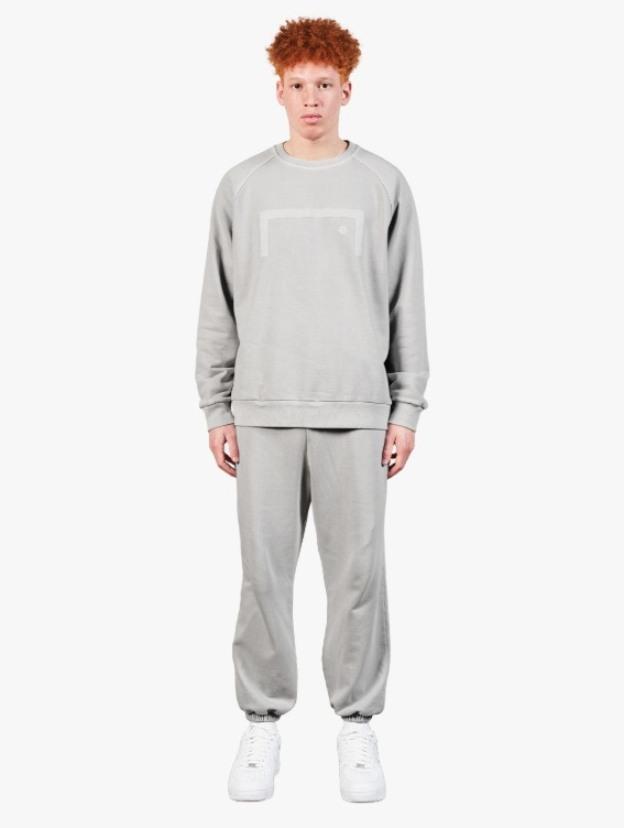 [10% OFF] PIGMENT DYE SWEATSHIRT & JOGGER PANTS SET - GREY